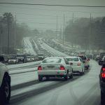 Sneeuwvalhinder door preventieve verkeersoverlast