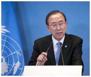 Een strijdvaardige Ban-Ki Moon wil snel het onderzoek naar Sinterklaas afronden, en dan terug over naar de orde van de dag. (Foto: Flickr)