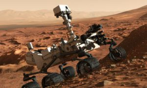 Marsrobot Curiosity is Rode Planeet al na Week Kotsbeu