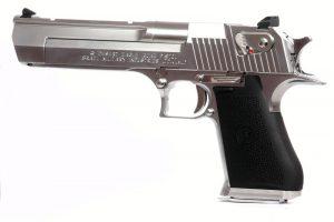 De Desert Eagle is een van de wapens die je in de automaat kunt kopen. (Foto: Wikimedia Commons)