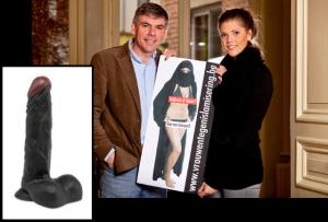 Filip Dewinter (VB) vond een zwarte kunstpenis in de kamer van zijn dochter, An-Sofie.