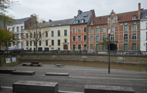 De Dijle in de Leuvense binnenstad (Foto: Wouter Hagen)