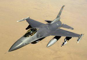 Belgische F16 met een payload N2O. (Foto: Sgt. Andy Dunaway)