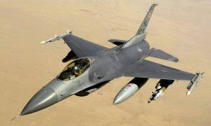 Belgische F16's droppen lachgas boven Syrië