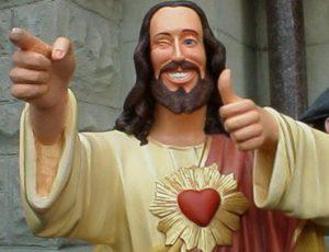 Wat Jezus betreft kunnen grappenmakers op hun twee oren slapen.