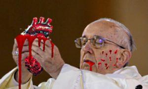 Paus offert traditionele kerstmaagd om toornige Jahweh gunstig te stemmen