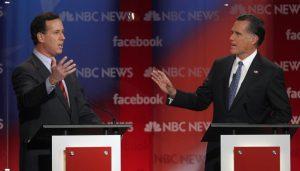 De belangrijkste republikeinse presidentskandidaten bekampten elkaar tijdens twee televisie debatten. Foto: Michael J.W. Stickings, The Reaction.