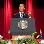 Obama speecht op afstudeerceremonie van kleuterschool in Wilsele