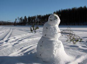 In Riemst is men er toch in geslaagd een sneeuwman te maken. (Foto: Petritap - CC BY-SA 3.0)