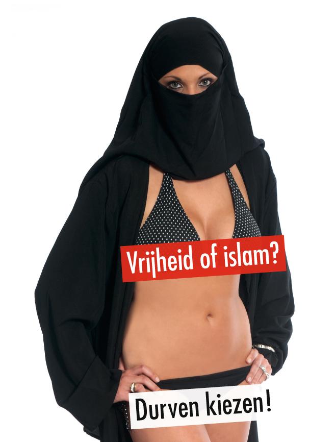 Mogelijke radicaliseerde An-Sofie Dewinter bij Vlaams Belang-spinoff 'Vrouwen Tegen Islamisering'.