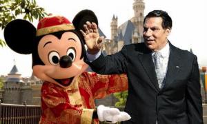 Oud-president Tunesië vraagt asiel aan in Disneyland