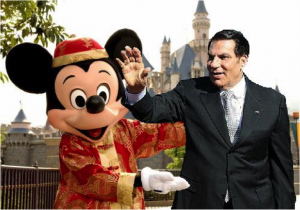 Ben Ali onderhield al lang nauwe banden met bevriend dictator Mickey Mouse