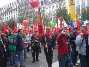 Voor een keer trokken de werkgevers boos door de straten van Brussel.