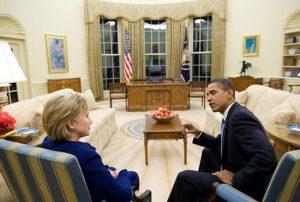 Niet Donald Trump, maar president-elect Hillary Clinton werd vorige week wegwijs gemaakt in het Witte Huis.