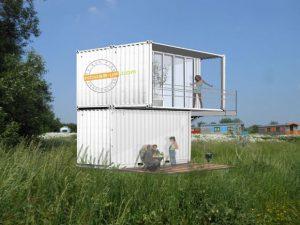 Containers bieden mantelzorgers de kans om bejaarden zo dicht mogelijk bij de achterste perceelgrens te huisvesten.