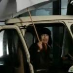 Kadhafi ging gewoon paraplu kopen