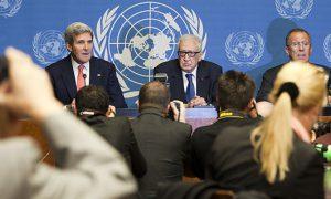 Syrische regime en rebellen praten met elkaar