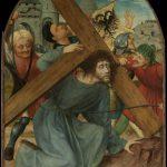 Christus viel drie maal over bananenschil