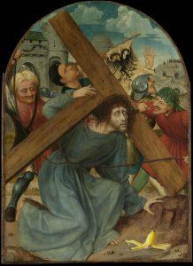 'De kruisdraging' van Quinten Massys lijkt te zijn geïnspireerd door het geschrift van Comicus