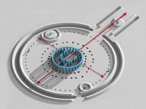 Rond de cirkelvormige site zouden de jagers-verzamelaars-kernfysici deeltjes (vermoedelijk stenen) versneld hebben.