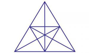 DR maandagpuzzel: slechts 1 op 7 kan het schelen hoeveel driehoeken in de tekening te zien zijn