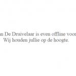 Website De Druivelaar offline: BEL20 duikt in het rood; millennials massaal gedesoriënteerd