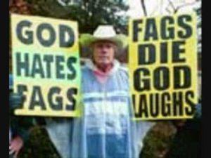 Aangezien God Liefde is, kunnen ze haatzaaiers missen als kiespijn in De Hemel. (Foto: Youtube)