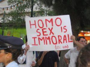 Gaybashing is een van de zes pijlers van het salafisme.
