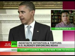 Door de Indefinite Detention Act worden de VS de facto een politiestaat. (Foto: Youtube)