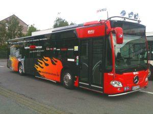 Zo zouden de getunede lijnbussen er gaan uitzien.