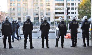 Politiebetoging geannuleerd omwille van terreurdreiging omwille van politiebetoging