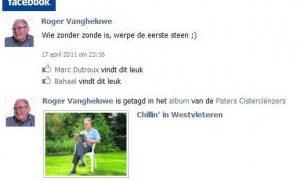 Facebook verwijdert profiel Roger Vangheluwe