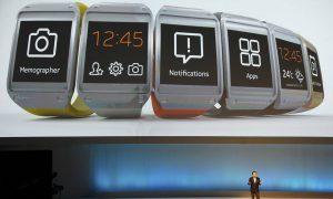 Samsung polstelefoon laat zien hoe laat het is