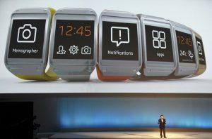 Met de Galaxy Gear kun je altijd en overal zien hoe laat het is. (Foto: Samsung)