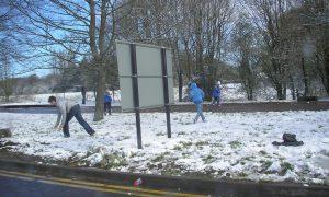 Jongen (7) gooit sneeuwbal : 250 euro GAS-boete
