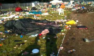 Stormweer vernietigt gratis drank- en eetbonnen Pukkelpop