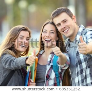 Onze scholen doen het goed: nog nooit zoveel stockfoto's van gelukkige studenten
