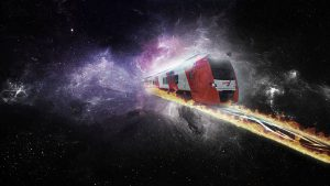 Goedkoper, stipter en veiliger treinverkeer? De vliegende trein is allicht de oplossing